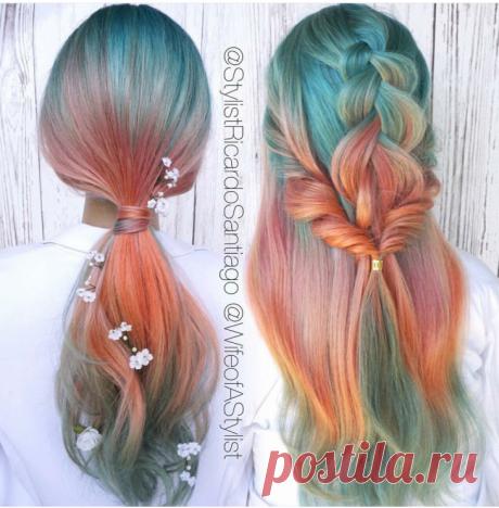 Двухцветные косы Модная одежда и дизайн интерьера своими руками