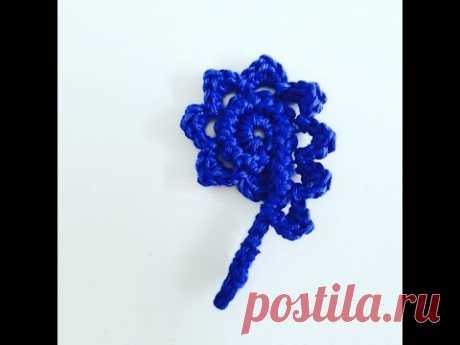 Crochet Pattern - Rosemary crochet flower - Romanian point lace - YouTube Вязание крючком - Розмари цветок крючком - Румынские кружева