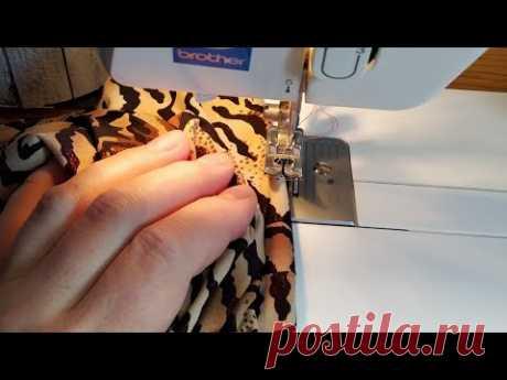 DIY. Как легко строчить трикотаж на швейной машинке. Швейный лайфхак