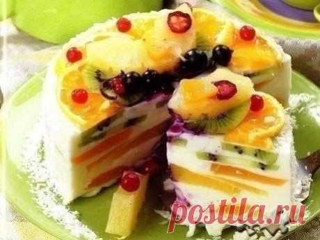 Как приготовить творожный торт «волшебный» - рецепт, ингридиенты и фотографии