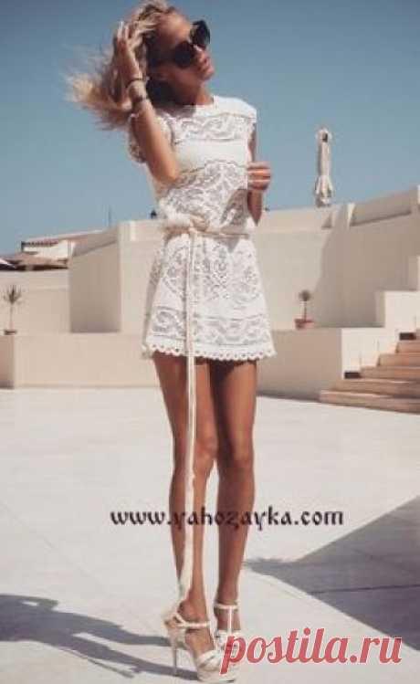 Великолепное платье крючком+СХЕМЫ. Стильное женское платье филейной вязкой | Я Хозяйка