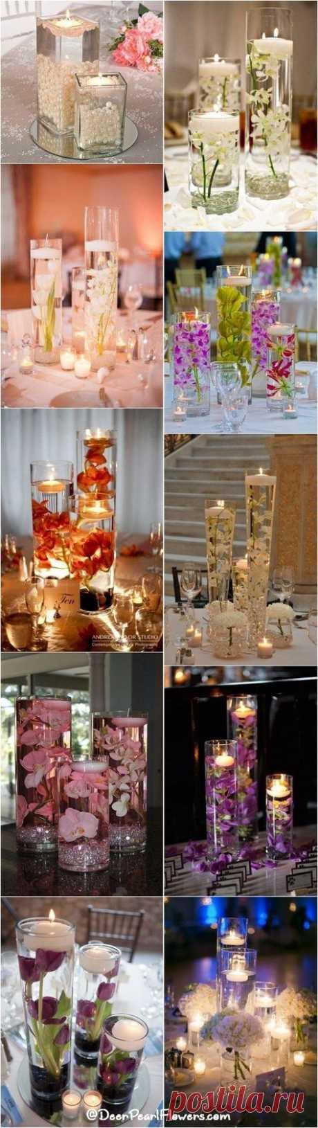15 модные идеи свадебной вечеринки центр штук