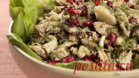 Имеретинский салат из курицы, пошаговый рецепт с фото Имеретинский салат из курицы. Пошаговый рецепт с фото, удобный поиск рецептов на Gastronom.ru