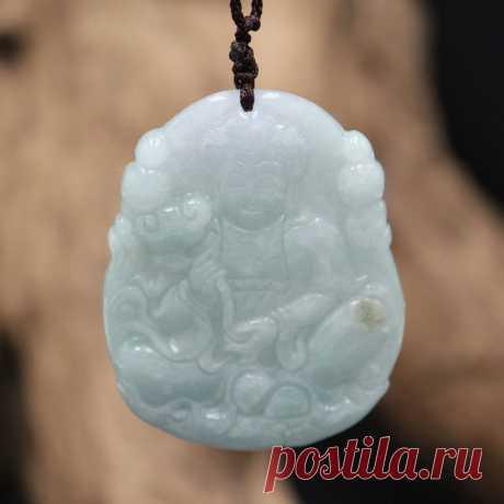 Gift for women-Charm Amulet Necklace-Jade Pendant Buddha | Etsy