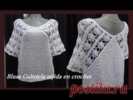 Blusa Gabriela Tejida en crochet