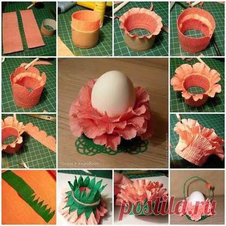 Как сделать подставки для яиц своими руками. Займитесь творчеством с детьми или внуками.