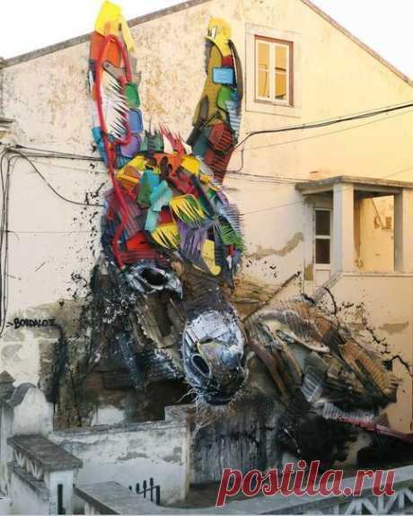 Уличный художник Bordalo