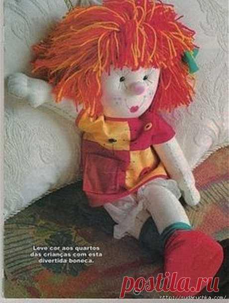 Кукла Клоунесса. Выкройка куклы..