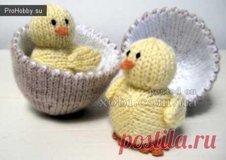 Вяжем спицами пасхального цыпленка в яйце / Вязание спицами и крючком / ProHobby.su   Поделись своим хобби с миром