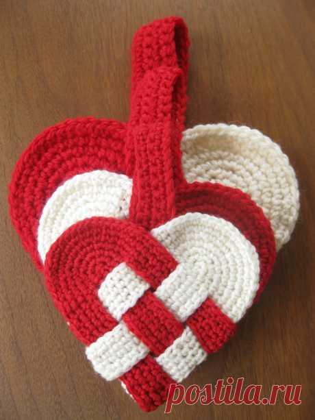 free danish heart crochet pattern | alipyper