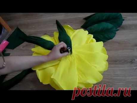 4  часть  МАСТЕР КЛАСС БЕСПЛАТНО. как я клею чашелистник ростовые цветы из бумаги - YouTube