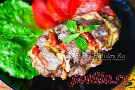 Мясо-гармошка в духовке, рецепт с фото из свинины на праздничный стол