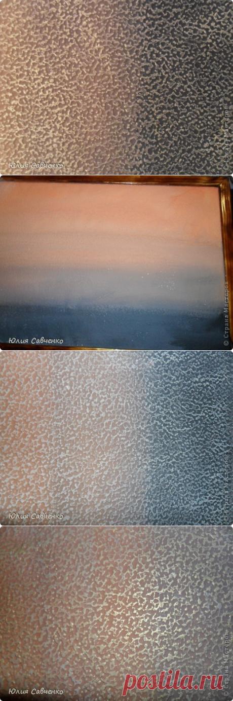 Делаем фон для картины из солёного теста. | Страна Мастеров