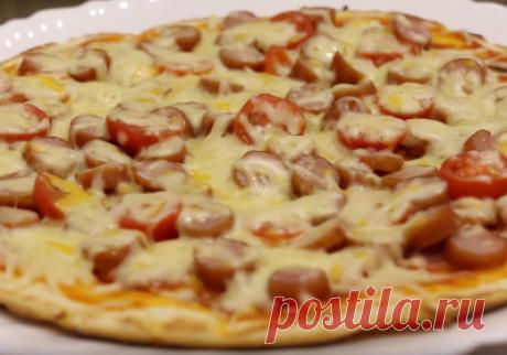 Рецепт домашней пиццы на сковороде - Kitkatalog