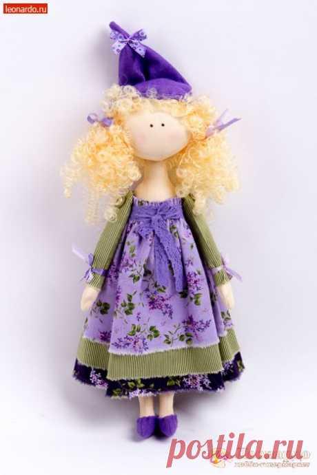 """Текстильная кукла «Сиреневая фея» - Онлайн-мастерская """"Леонардо"""""""