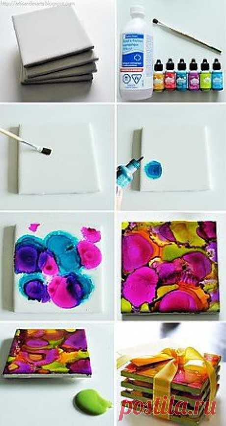 красивые подставки из керамической плитки