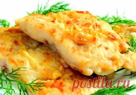 Сочная рыба в луковом кляре