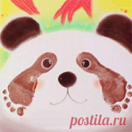 Рисуем панду ножками