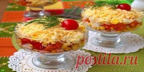 Салат «Восторг» — это вкусный и сочный салат — Вкусные рецепты