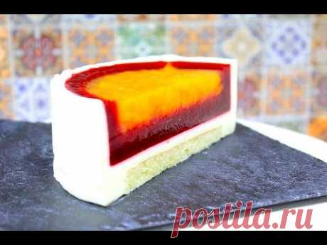 Apricot \/ MOUSSE CAKE Raspberry Apricot MUSSOVYY cake of Malines