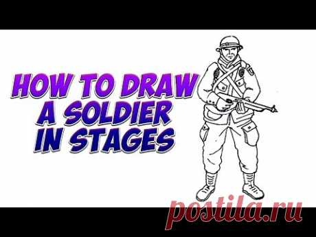 How to draw a soldier in stages
