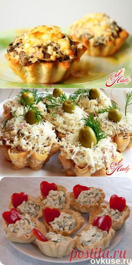Салаты в тарталетках для праздничного стола - Простые рецепты Овкусе.ру
