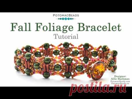 Fall Foliage Bracelet - DIY Jewelry Making Tutorial by PotomacBeads
