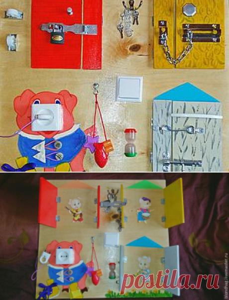 Делаем бизиборд, или Чем занять шустрого малыша - Ярмарка Мастеров - ручная работа, handmade