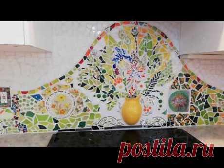 Мозаичный Фартук на кухне. МК