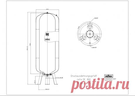 Расширительный бак, гидропневмобак или гидроаккумулятор Reflex 800