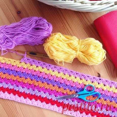 Узор для вязания пледа #крючок #узор_вязания