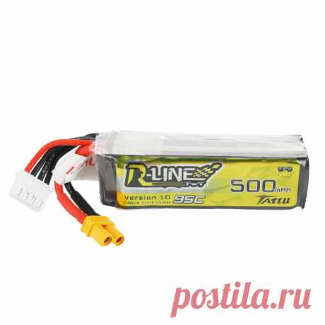 tattu r-line 1.0 11.1v 500mah 95c 3s xt30 plug lipo battery Sale - Banggood.com