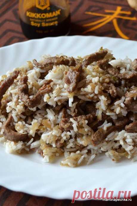 Мясо по-китайски - рецепт быстрого приготовления!