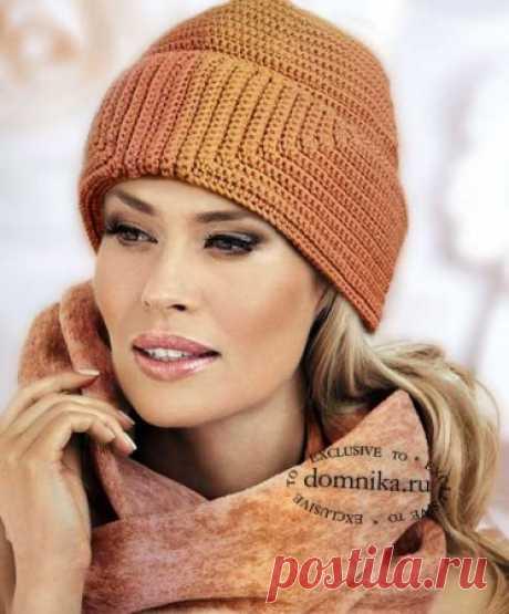 Вязаные шапки для дам старше 60 лет - шляпки и шапки со схемами вязания