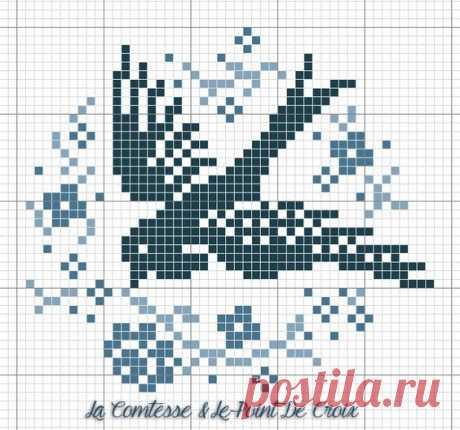 Птички прилетели: схемы для вышивки