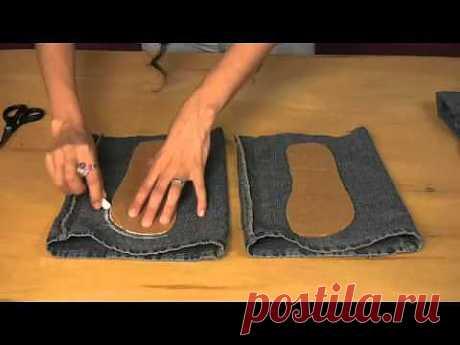 СТАРЫЕ-ВЕЩИ.РФ - сандали из старых джинс - YouTube