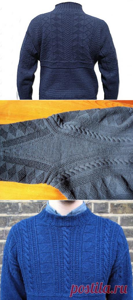 вязание мужчинам.Ганзейский рыбацкий свитер: история возникновения и особенности вязания