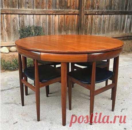 Идеальный стол и стулья #Мебель@project_kuhni