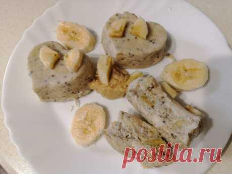 Простой завтрак из йогурта и банана - ПП кексы за 10 минут   Рецепты ПП - худеем вкусно!   Яндекс Дзен