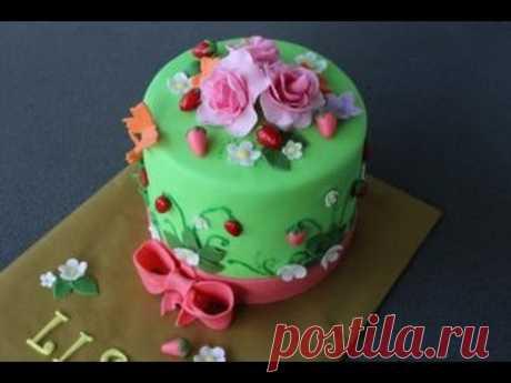 """cake \""""Berry clearing\"""" \/ Torte \""""Erdbeerwiesse\"""""""