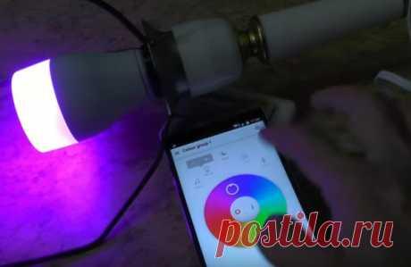 Easybulb WiFi RGB LED умная экономная лампа управляемая смартфоном