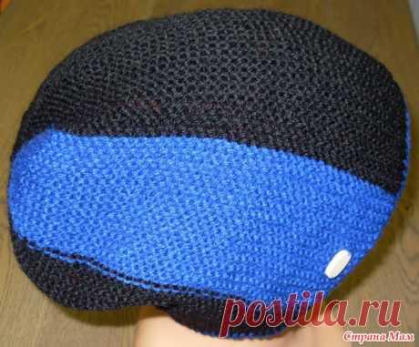 Мужская шапка-бини платочной вязкой укороченными рядами - Вязание - Страна Мам
