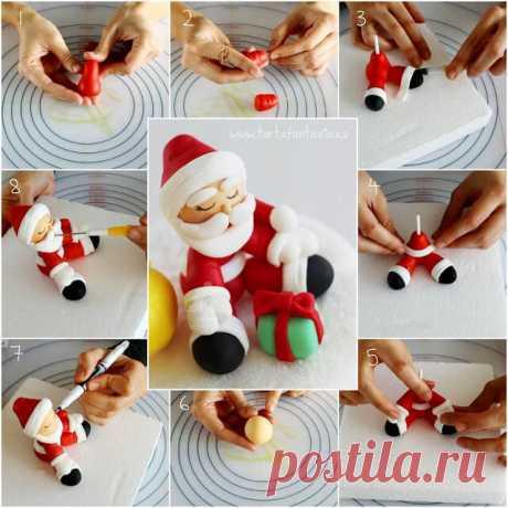 Новогодние игрушки из пластилина: 25 идей ~ ALL-DEKOR