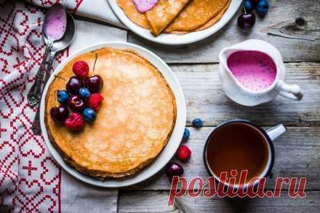 Рецепт блинного теста без дрожжей — Sloosh – кулинарные рецепты