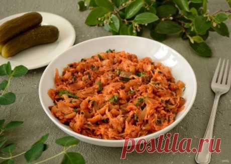 Капуста тушеная с огурцами - пошаговый рецепт с фото на Повар.ру