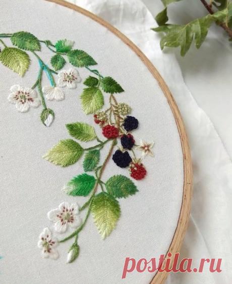 Волшебство вышивки гладью! Вдохновляемся идеями со всего света. | DIY Hand-Made | Яндекс Дзен