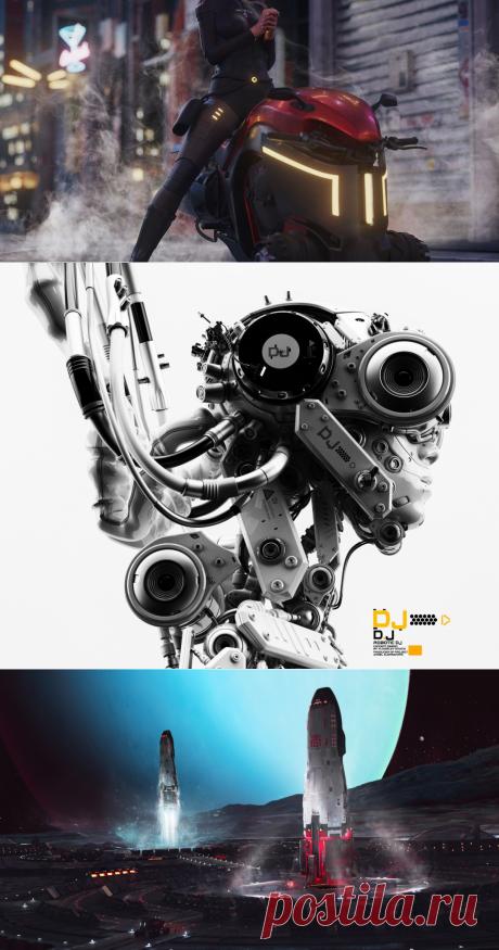 SCI-FI, дизайн персонажей иллюстрация 3D
