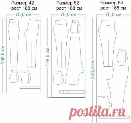 Выкройка узких женских брюк на резинке WB050719 | Шкатулка