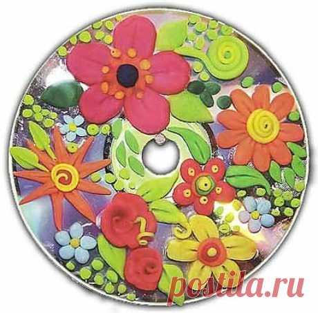 диск с цветами 1