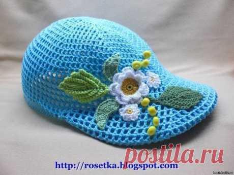 Летняя кепка для девочки (Вязание крючком) – Журнал Вдохновение Рукодельницы